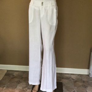 INC linen trousers with crystal and lace